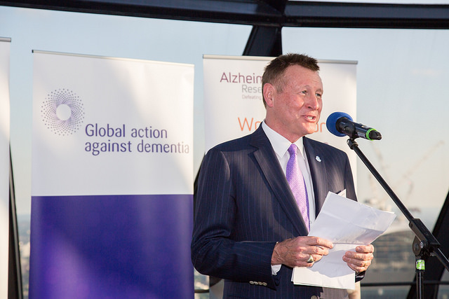 World Dementia Envoy, Dr Dennis Gillings speaking at the event.